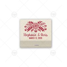 Bold Floral Match | 30 Strike Matchbook | For Your Party