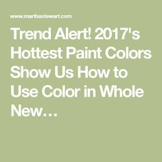 Trend Alert! 2017's Hottest Paint Colors Show Us How to Use Color in Whole New…