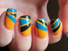 Retro nail art by Danijella on DeviantArt Nail Art nail art Nail Art Pictures, Gel Nails, Deviantart, Nailart, Retro, Art Art, Beauty, Beautiful, Makeup