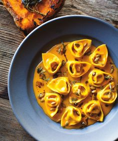 Pumpkin Tortelloni with Sage and Pumpkin Seeds from Flour + Water by Thomas McNaughton