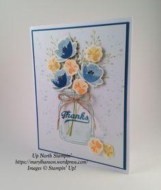 Jar of Love Thanks Dapper Denim Up North Stampin' Stampin Up