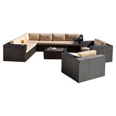 You should see this Epping 7 Piece Seating Group in Black with Sand Cushions on Daily Sales!
