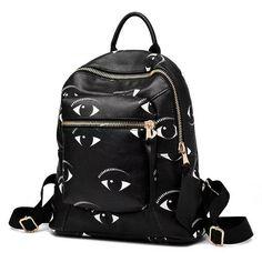 Eye spy with my little #eye  a seriously fashionable #backpack!  #eyes #eyeprint http://ift.tt/2ommJXx