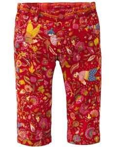 Oilily Red Floral Pony Pants