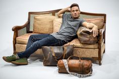 Lounging in style. Frankie Rocking out with just a few of our collection items!