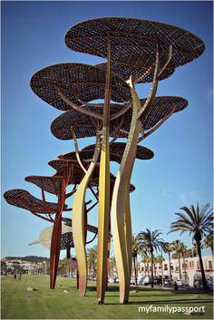 Futuristic Architecture, Amazing Architecture, Architecture Design, Canopy Architecture, Tree Sculpture, Outdoor Sculpture, Urban Furniture, Street Furniture, Landscape Art