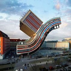 over the last ten years, víctor enrich has been continually reimagining landmark cityscapes through architectural and digital manipulation. the catalan artist's ongoing series of contortions and distortions literally turn urban sites on their head, twisting, bending and braiding buildings into unrecognizable versions of themselves. see the full series of digital distortions by #victorenrich on #designboom!