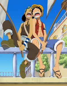 Luffy and Usopp - one of my favourite straw hat pirates' relationships