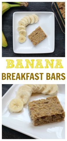 Banana breakfast bar