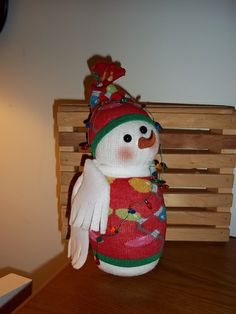'Sock Snow Man-Christmas Lights' is going up for auction at 11am Sun, Nov 17 with a starting bid of $12.