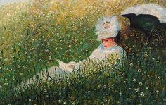Claude Monet dans la prairie