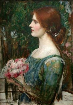 Pre Raphaelite Art: The Bouquet - John William Waterhouse