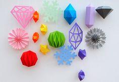 DIY papir skabeloner julepynt   Fold selv origami pynt   Bobedre.dk