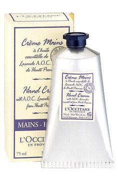 L'OCCITANE EN PROVENCE Best hand cream ever! Love the Lavender scent and the Original.