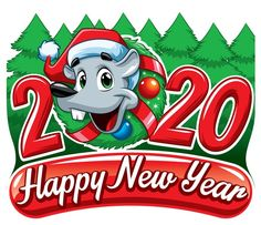 Happy New Year 2020 eCard - Megaport Media Happy New Years Eve, Happy New Year 2020, Merry Christmas Pictures, Share Pictures, Animated Gifs, New Year Wishes, Sendai, Emoticon, Animal Paintings