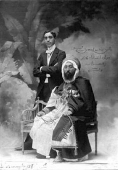 Seyed Ahmed Ben Cherif, Lord of the Oulad Si M'hamed & Saharis and his son Mohammed, Algeria