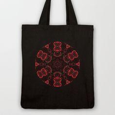Rose Fractal Tote Bag by Zinidesign - $18.00