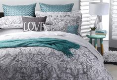 Verona Queen Quilt Cover Set. | Super Amart