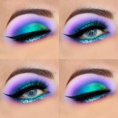 21 Stunning Makeup Looks for Blue Eyes Are you the proud owner of blue eyes? How about these stunning makeup looks for blue eyes? We think you 21 Stunning Makeup Looks for Blue Eyes Dramatic Eye Makeup, Colorful Eye Makeup, Dramatic Eyes, Natural Eye Makeup, Blue Eye Makeup, Eye Makeup Tips, Glitter Makeup, Smokey Eye Makeup, Makeup Ideas