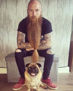 100 Beards - 100 Bearded Men On Instagram To Follow For Beardspiration Bald With Beard, Red Beard, Bald Men, Ginger Beard, Long Beard Styles, Hair And Beard Styles, Great Beards, Awesome Beards, Beard Tips