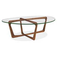 Room & Board - Dunn 47x33 15h Cocktail Table with Glass Top
