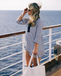 My Vacation Style – Resort Wear from Lands End Cruise Dress, Cruise Outfits, Casual Summer Outfits, Spring Outfits, Boat Fashion, Swimsuit Material, Dinner Outfits, Weekend Style, Resort Wear