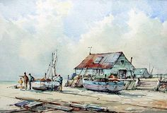 Whitstable Beach by Charles E Savage