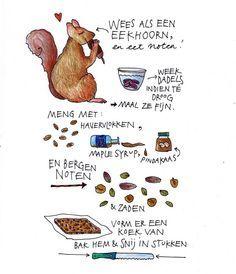 Mueslirepen met noten en gedroogd fruit