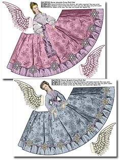 Ten Two Studios - Snow Angels Cone Dolls at www. these would be fun for the (girl) grandchildren. Christmas Angels, Vintage Christmas, Christmas Crafts, Snow Angels, Vintage Halloween, Paper Art, Paper Crafts, Angel Crafts, Vintage Paper Dolls