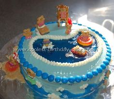 coolest swimming pool cake photos and decorating tips. beautiful ideas. Home Design Ideas