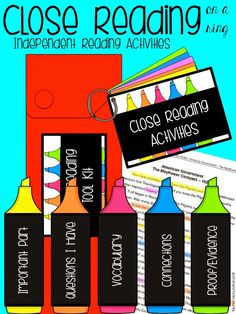 Close Reading Independent Reading Activity