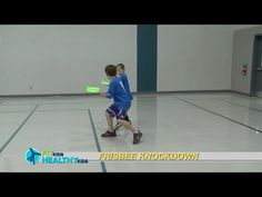 Frisbee Knockdown Great game to work on coordination and balance. Physical Education Activities, Pe Activities, Pe Lesson Plans, Warm Up Games, Elementary Pe, Pe Lessons, Pe Ideas, Pe Teachers, Gym Games