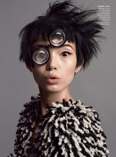 'Seeing Double' Xiao Wen Ju by Inez & Vinoodh for US Vogue July 2014