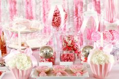 This site has really cute party planning ideas. I like the flower arrangements in this picture!