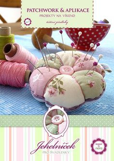 my new printed pattern for pincushion | Flickr - Photo Sharing!