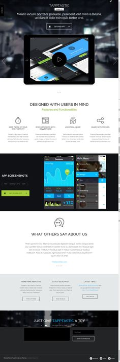 Tapptastic from ThemeFuse - a cool wordpress theme.