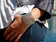 Liquid Metal - Mesh Cuff Bracelet by Sergio Gutierrez - Love this.  On Daily Grommet.  Check it out.