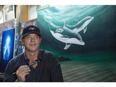 Art against the wall: At 60, Wyland has his massive murals of whales, dolphins in 18 countries