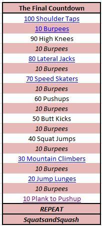 I, I, I, I workout!