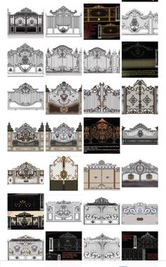 Pin by Jual Ornamen Besi Tempa. Centra Java on Pagar besi tempa Jakarta Home Gate Design, Front Gate Design, Steel Gate Design, Main Gate Design, House Front Design, Fence Design, Modern House Design, Door Design, Exterior Design