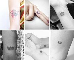 Cute Small Tattoos For Girls With Their Meanings: Tiny Crown Tattoos