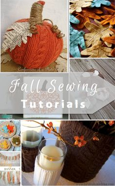 I can't get enough of fall accent home decor, so here are some more fall sewing tutorials for you! I love the easy, new sew, upcycled versions.
