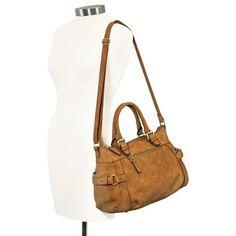 Women's Merona® Timeless Collection Crossbody Satchel Handbag - Brown
