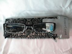 Foster Grant Black & Clear Sophie Reading Glasses with Case +1.25 2.00 2.75 #FosterGrant