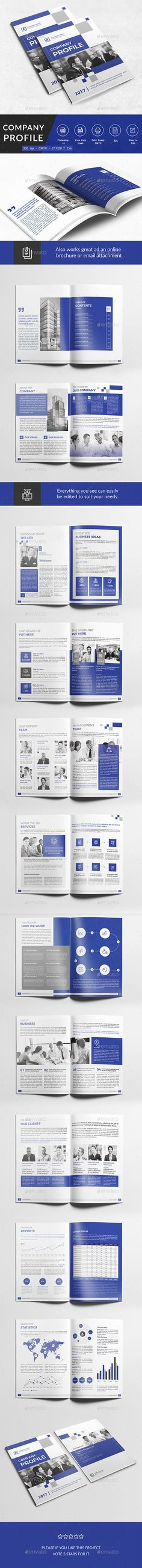 Company Profile Brochure Template InDesign INDD Download here - profile company template