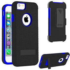 iPhone 6 Case, VAKOO For Apple iPhone 6 4.7 Case Belt Clip Pouch Case Shockproof Drop Proof Heavy Duty Case Rugged Soft Silicone Dual Layer Holster Armor Cover with Kickstand and Locking Belt Swivel Clip for Apple iPhone 6 Air (Navy Blue) Vakoo http://www.amazon.com/dp/B00WNRY5ZY/ref=cm_sw_r_pi_dp_B7Nyvb08ZM5RP