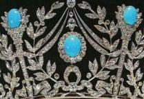 Persian Turquoise Tiara - close up