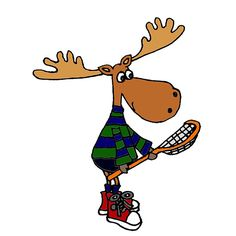 'Funny Cool Moose Playing Lacrosse' by naturesfancy Lacrosse Sticks, Green Sweater, Scooby Doo, Moose, Original Art, Iphone Cases, Snoopy, Cool Stuff, Funny