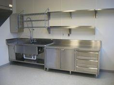 Aluminum Kitchen Cabinets, Kitchen Cabinets And Backsplash, Stainless Steel Kitchen Cabinets, Aluminium Kitchen, Kitchen Cabinet Design, Kitchen Walls, Backsplash Ideas, Commercial Kitchen Design, Commercial Kitchen Equipment