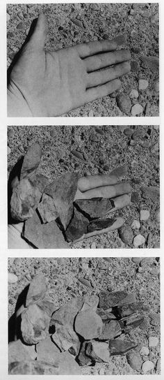 Dennis-Oppenheim-Rocked-Hand-1970.jpg (491×1132)